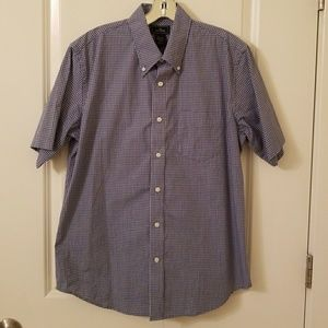 Men's Blue Plaid Dockers Dress Shirt